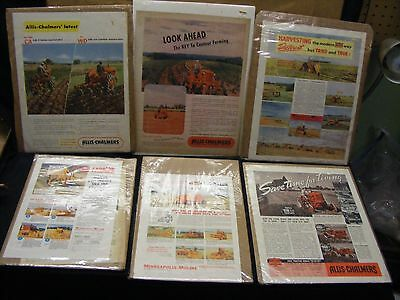 lot of 6 vintage tractor ads moline and chalmers