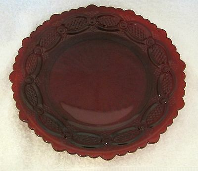 """Cape Cod Ruby Red Glass By Avon Salad Plate 7 1/4 """"  Excellent Shape SHP"""