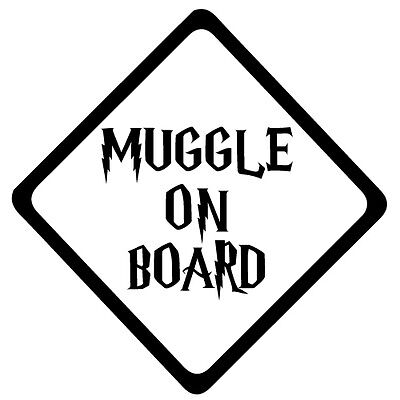 Muggle Harry Potter Baby on board die cut funny vinyl decal car bumper sticker