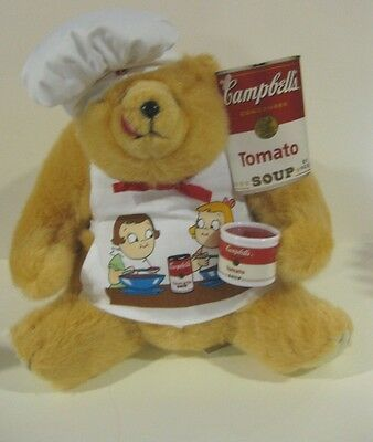 1997 The Blessed Companion Bear Company Plush Campbell's Soup Bear