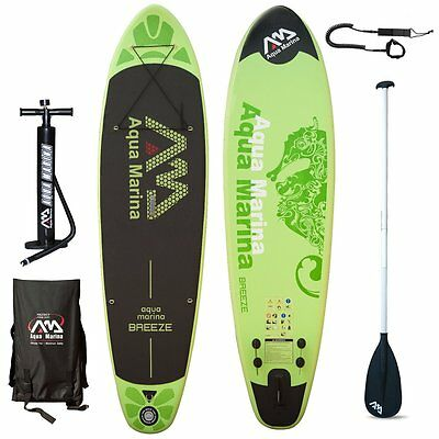 AQUA MARINA Breeze SUP inflatable Stand Up Paddle Surfboard Board Paddle