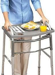 ISG TV Dinner Transport Tray for Walker w/ Raised Edges Two Recessed Cup Holders