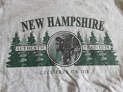 "OLD MAN OF THE MOUNTAIN - NEW HAMPSHIRE ""Live Free or Die"" (MED) T-Shirt"
