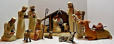 Willow Tree Nativity, Wise Men, Shepherd & Animals, Demdaco, Sue Lordi, 14 Piece