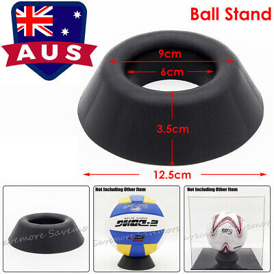 AU Plastic Black Ball Stand Display Holder for Basketball Football Soccer Rugby