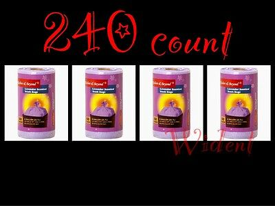240 ct 6 Gallon Trash Can Bags Lavender Scented