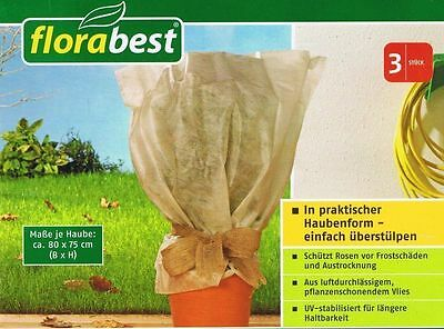 Florabest Roses Frost guard Frost Protection Cover Winter 80 x 75 cm 3 Piece