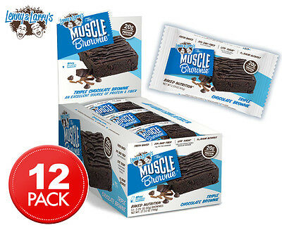 12 x Lenny & Larry's The Muscle Brownie Triple Choc 65g
