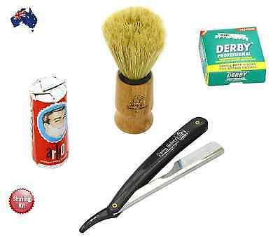 Cut Throat Shaving Kit (Cut Throat Razor+100 Derby Blades+Arko Soap+ Brush )