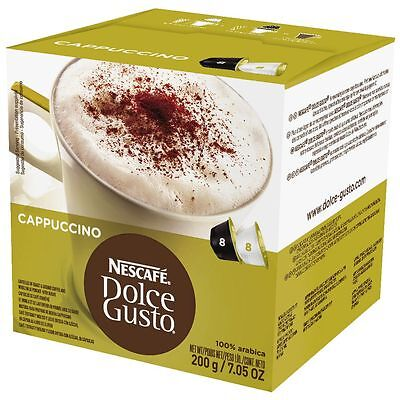 Bulk Buy - 4 x Nescafe Dolce Gusto Cappuccino Coffee Capsules 16 Pack