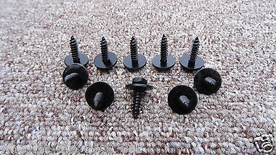*4.8mmx19mm* BLACK FORD SELF TAPPING TAPPER SCREW&WASHER HEX HEAD