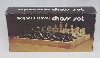 Chess Set Magnetic Travel Board Game Vintage Complete in Box