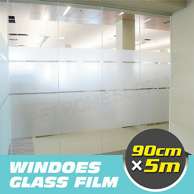 90cm*5m Sand Blast Clear Privacy Windows Frosted Decorative Glass Film Removable