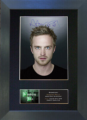 AARON PAUL Breaking Bad Signed Mounted Autograph Photo Prints A4 430