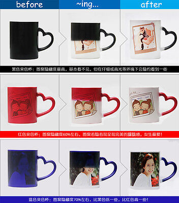 Personalised Colour Changing Magic Mug Custom Coffee Cup Photo/Text/Logo Cup
