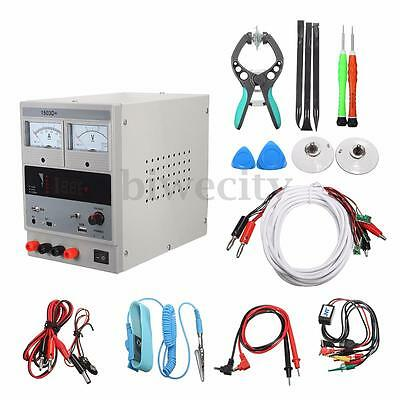 Adjustable Regulated DC 3A 220V Power Supply Laptop Mobile Phone Repair Tool Set