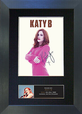 KATY B Signed Mounted Autograph Photo Prints A4 422