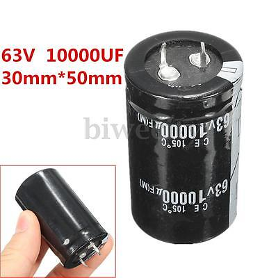 1/2/4Pcs High-frequency Temp Electrolytic Capacitor 63V 10000UF 30mm*50mm