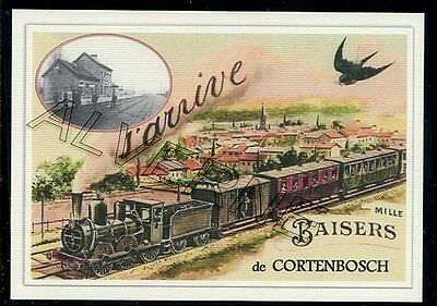 CORTENBOSH -- ...... TRAIN ....   souvenir creation moderne serie numerotee