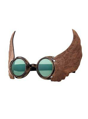 Steampunk Brille Aviator grün