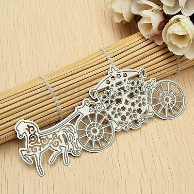 Christmas Carriage Cutting Dies Stencil For DIY Scrapbooking Paper Card Album