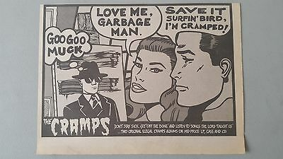THE CRAMPS OFF THE BONE orig magazine Trade Advert clipping A4 Size # ##3