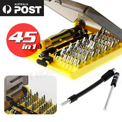 45in1 Precision Screwdriver Tool Phone PC Repair Set Torx Screw Driver Kit AU