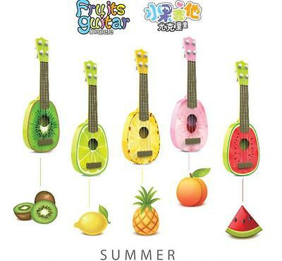 2016 New KIDS Ukulele Guitar lover Beginners Play Fruit Musical Instrument Toy