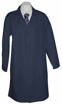 NAVY BLUE LAB COAT Jacket Medical Warehouse Technician