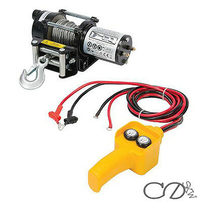12V 2000LBS Electric Recovery Winch Steel Rope held Control for Boat ATV Trailer