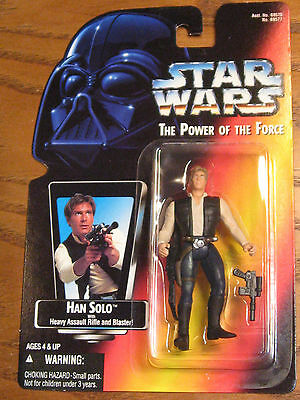 Star Wars / The Power of the Force - Han Solo w/ Rifle Action Figure - 1995