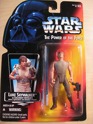Star Wars/ The Power of the Force- Luke Skywalker Action Figure / fatigues 1995