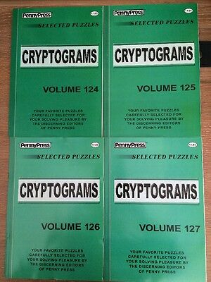 Lot Of 4 Cryptograms Penny Press 3180 Retail Dell Selected Puzzles
