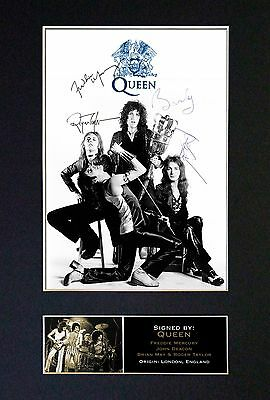 QUEEN Signed Mounted Autograph Photo Prints A4 327