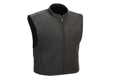 Mens Son Of Anarchy Real Leather Motorcycle Biker Waistcoat/Vest Size S-5XL