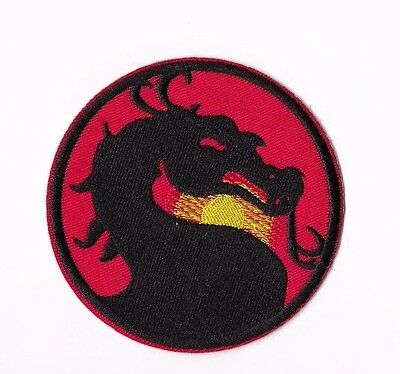 MORTAL KOMBAT IRON ON / SEW ON PATCH Embroidered Badge Motif Movie GAME PT149