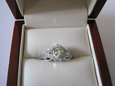 Beautiful 1.04 ct Moissanite Engagement Wedding Ring .925 Sterling Silver