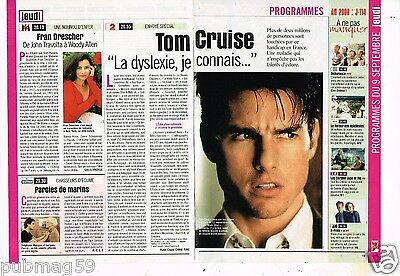Coupure de presse Clipping 1999 (2 pages) Tom Cruise