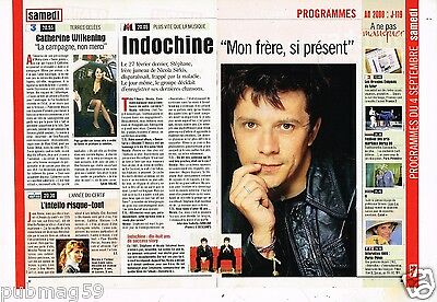 Coupure de presse Clipping 1999 (2 pages) Indochine Nicola Sirkis