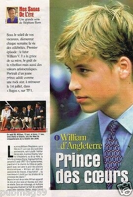 Coupure de presse Clipping 1999 (3 pages) Prince William d'Angleterre
