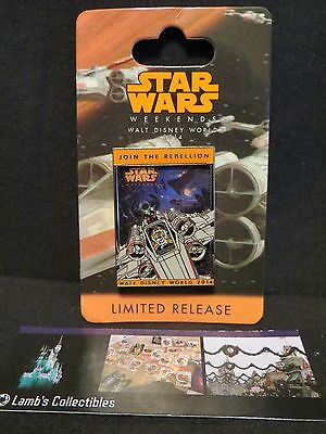 Mickey X wing Logo Pin 2014 Star Wars Weekends artist signed