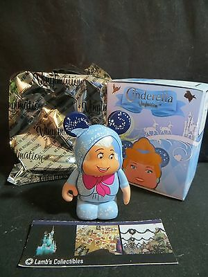 "Disney Store Authentic Cinderella Vinylmation Fairy Godmother blue 3"" tall"