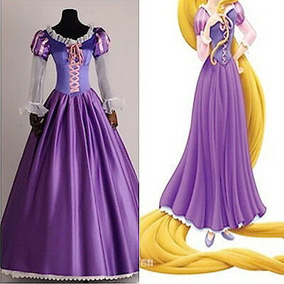 Rapunzel Vestito Carnevale Donna Dress up Tangled Woman Costume RAPUW02