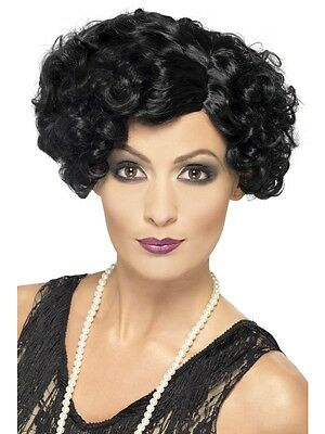 New Adult Women Black 20's Flirty Flapper Wig Costume Accessory