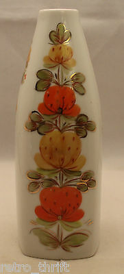 Made in USSR Soviet White Porcelain Hand Painted Flowers Vase Russian Vintage