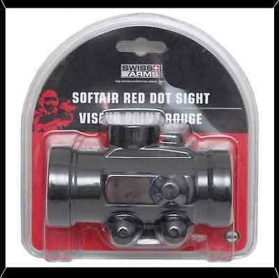 Swiss Arms Softair Red Dot Scope To Fit Picatinny Rail New in Clamshell Package