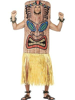 New Adult Mens Brown Smiffys Tiki Totem Comdey Costume