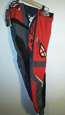 Fly Racing F-16 Motocross Pants, Red/steel Size 30