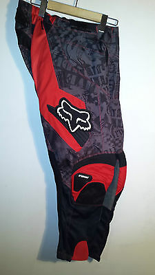 Fox Racing 180 Motocross Pants, Red / Black, Size 30
