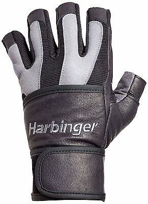Harbinger Bioflex Wristwrap Weightlifting Gloves (Gray), Mult. Sizes Available